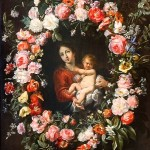Blessed Virgin with flowers