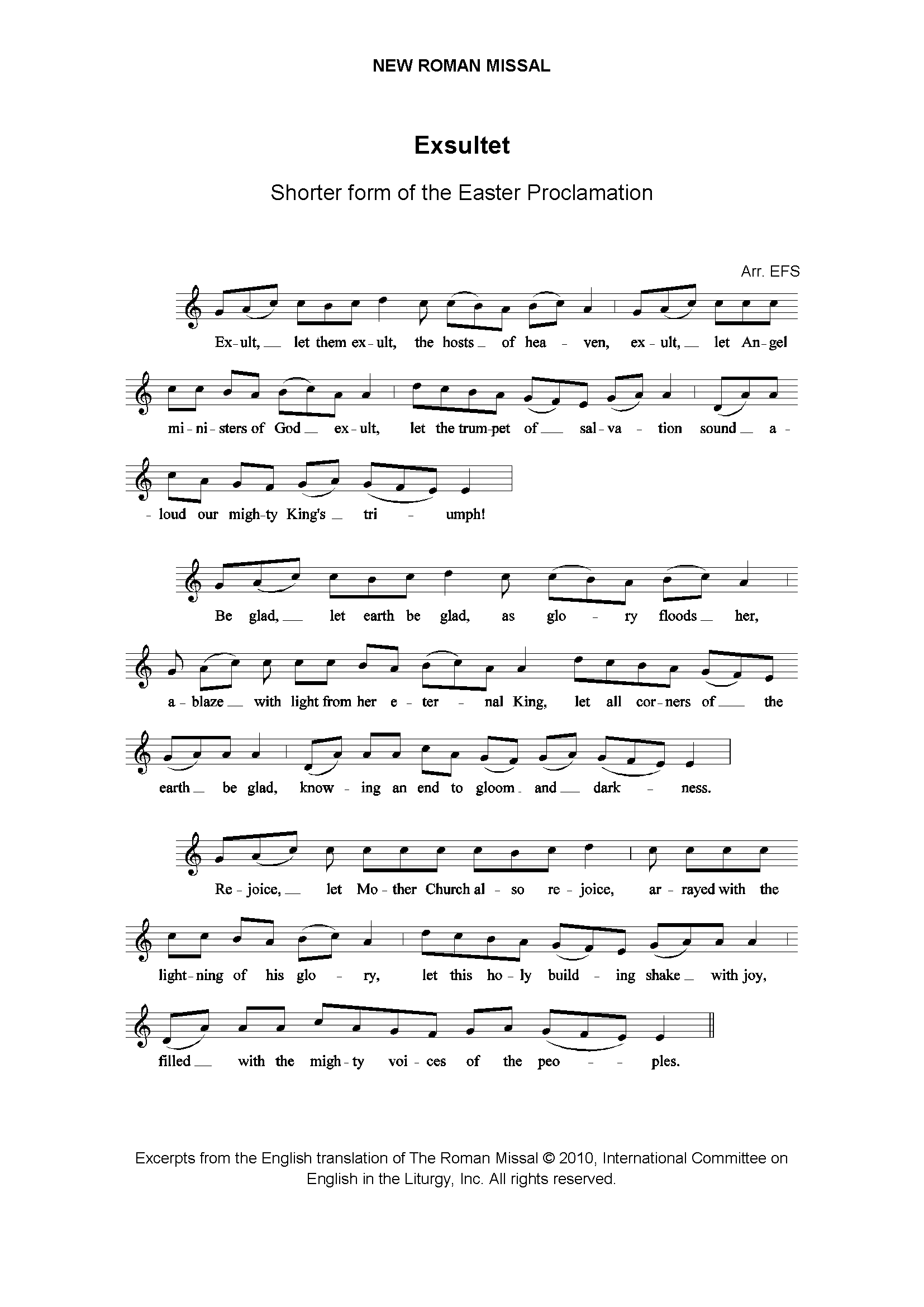 Exsultet page 1