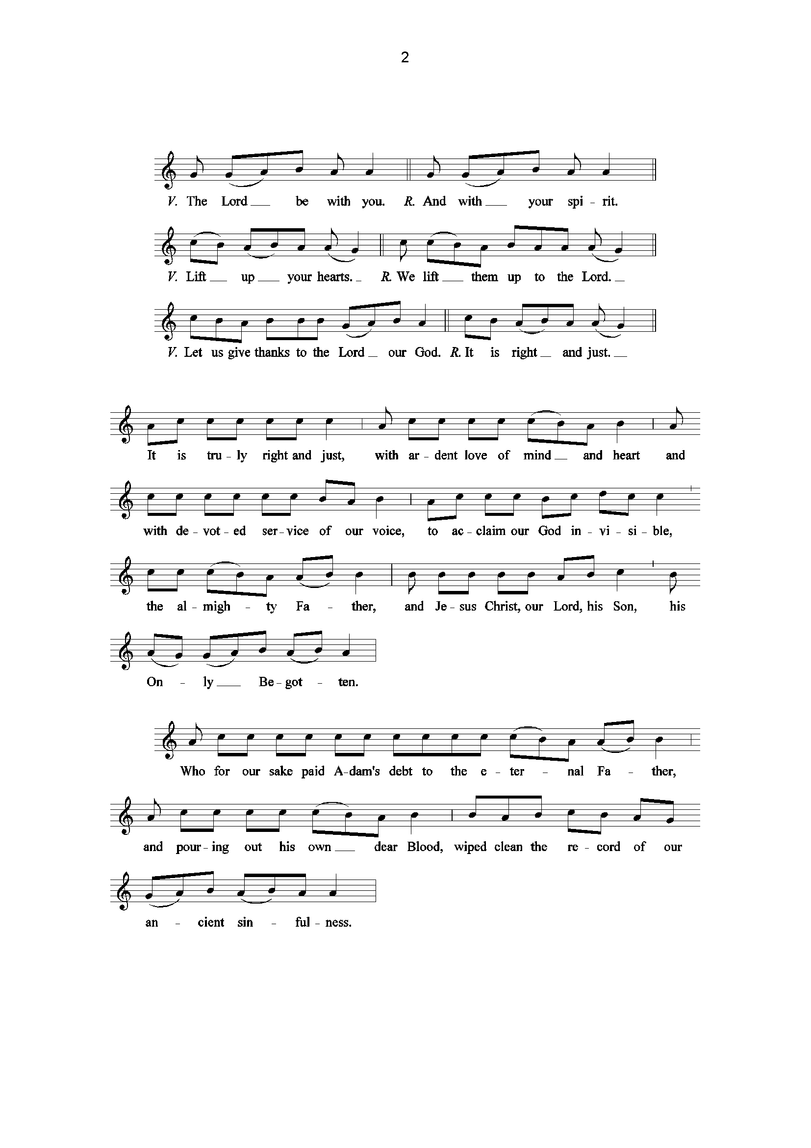 Exsultet page 2