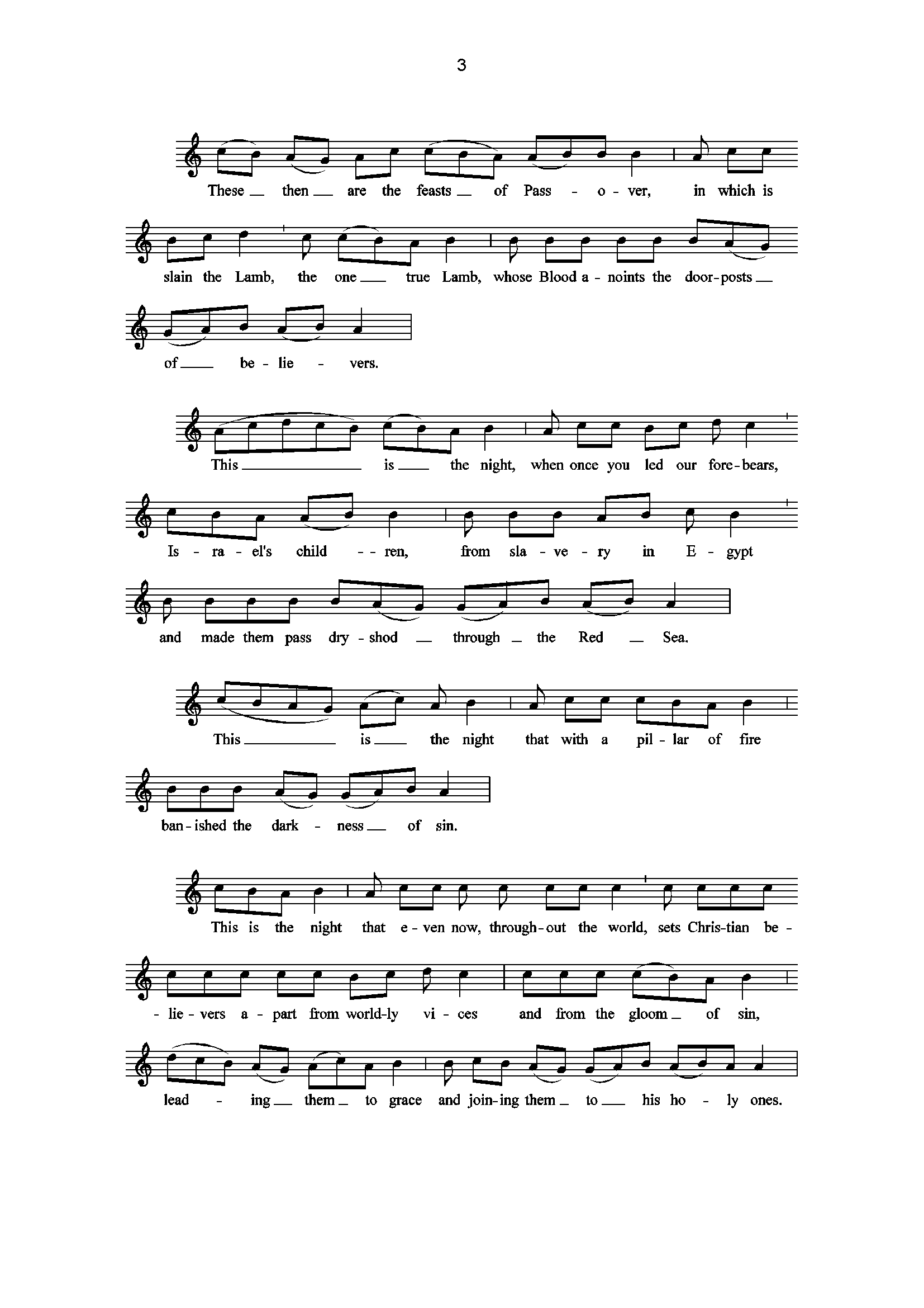 Exsultet page 3