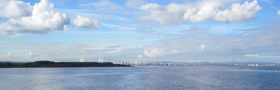 Grangemouth on the river Forth